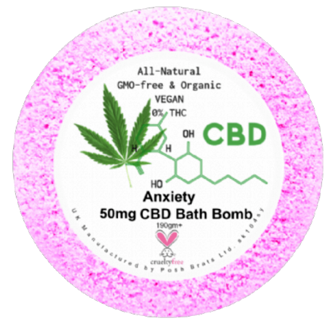 Anxiety CBD Hemp Oil Aromatherapy Bath Bomb - 50mg